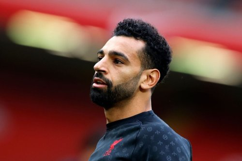 Liverpool's Egyptian midfielder Mohamed Salah looks on ahead of the English Premier League football match between Liverpool and Leeds United at Anfield in Liverpool, north west England on 12 September 2020. [PHIL NOBLE/POOL/AFP via Getty Images]