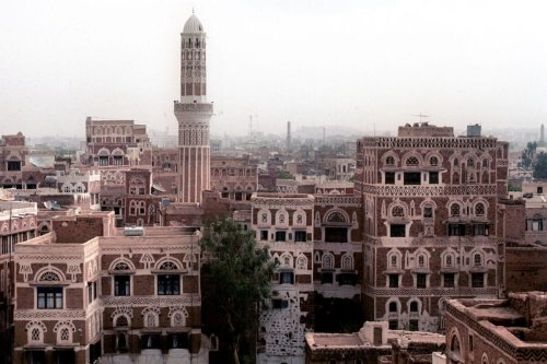 General view of the old city of Sanaa, Yemen on 27 July 2001 [KHALED FAZAA/AFP via Getty Images]