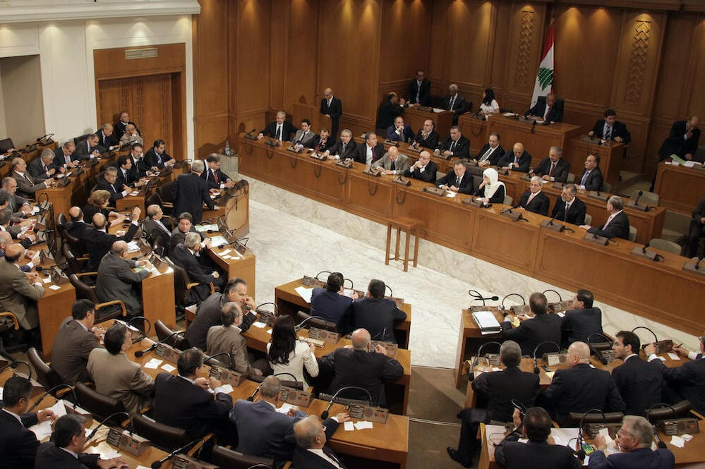Lebanese Members of Parliament attend a parliament session to elect the house speaker in Beirut on 25 June 2009. [NABIL MOUZNER/AFP via Getty Images]