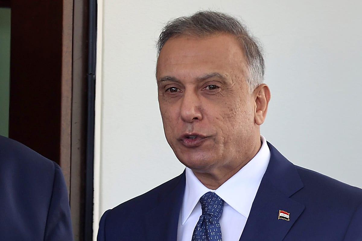 Iraqi Prime Minister Mustafa Al-Kadhimi at the White House 20 August 2020 [Anna Moneymaker-Pool/Getty Images]