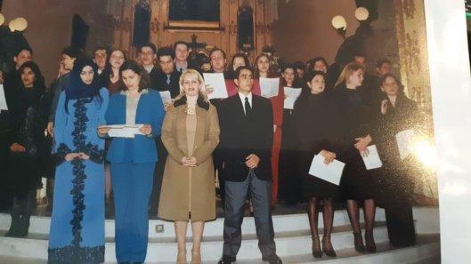 Fatima Hussein at her university graduation in Florianopolis, Brazil, in July 2000