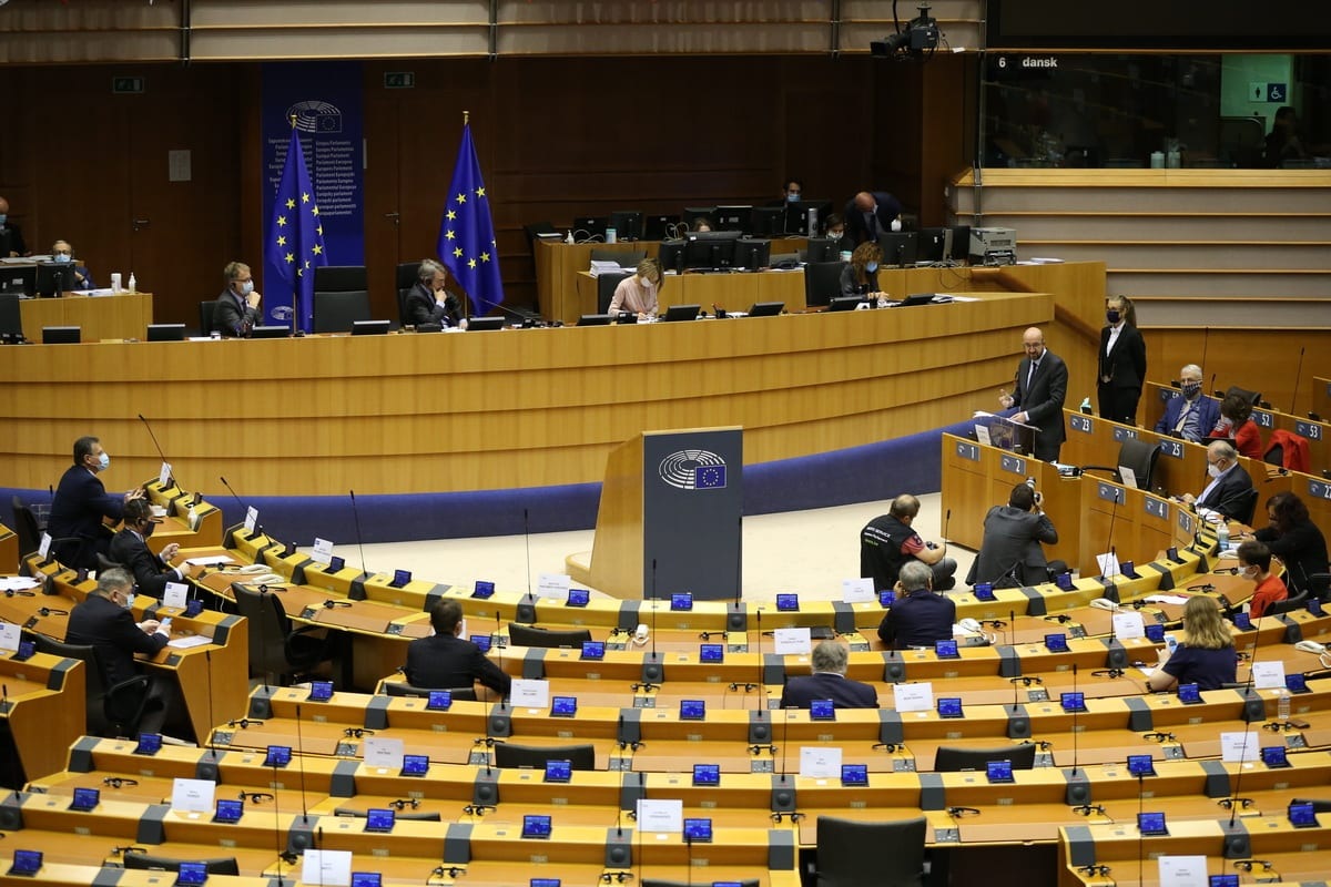 European Parliament in Brussels, Belgium on 20 October 2020 [Dursun Aydemir/Anadolu Agency]