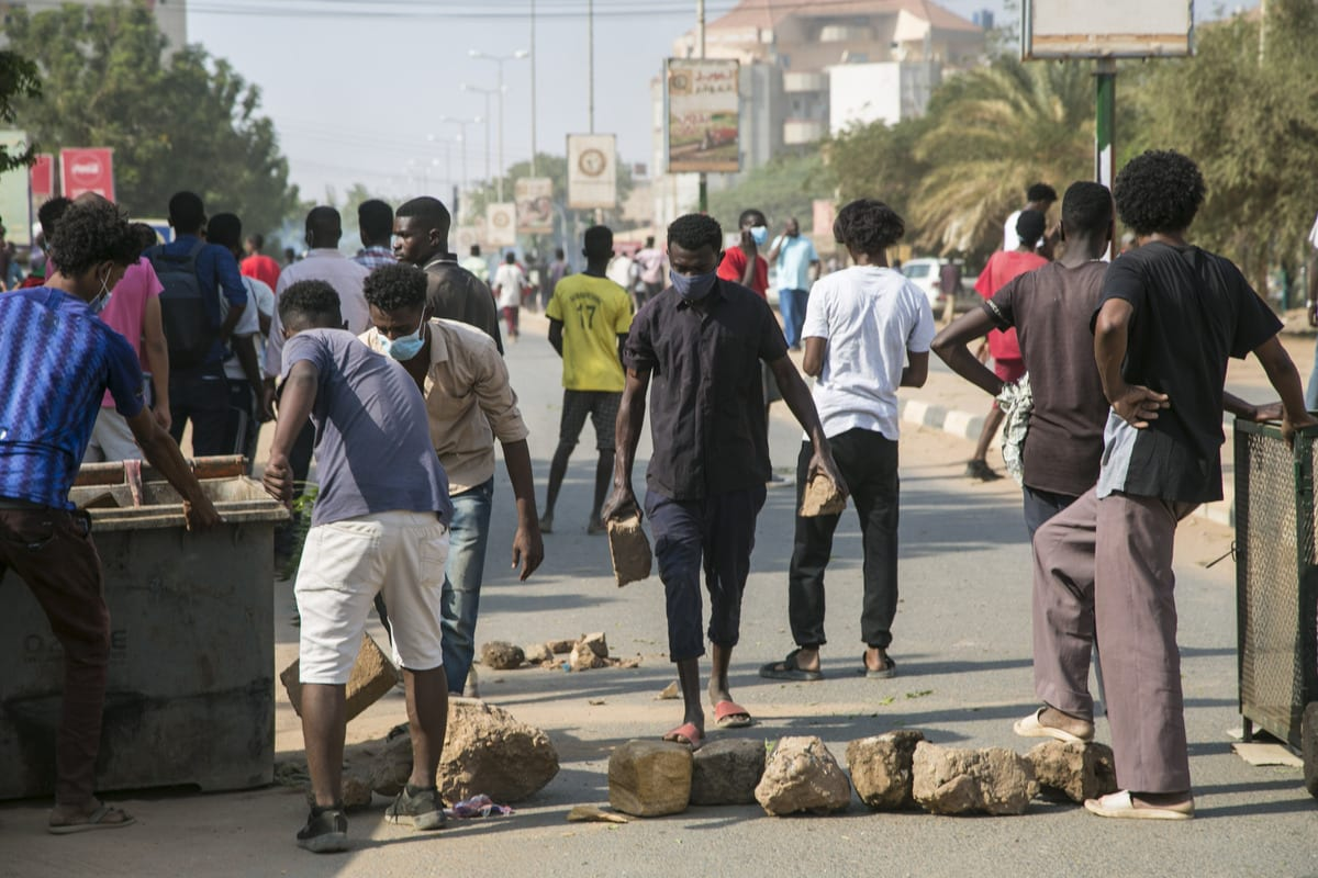 Protest against economic crisis and high cost of living in Khartoum, Sudan on 21 October 2020 [Mahmoud Hjaj /Anadolu Agency]