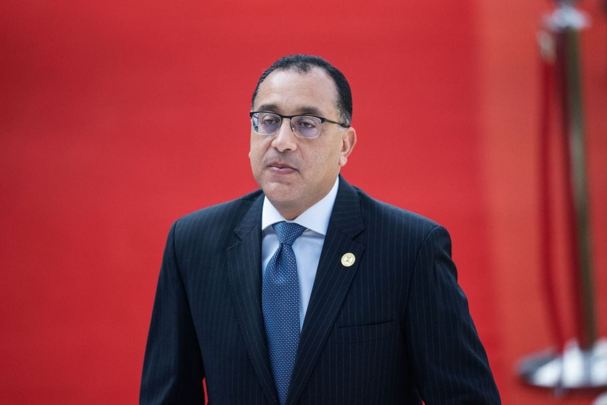 Egyptian Prime Minister Mostafa Madbouly in Pretoria, South Africa, on 25 May 2019. [MICHELE SPATARI/AFP via Getty Images]