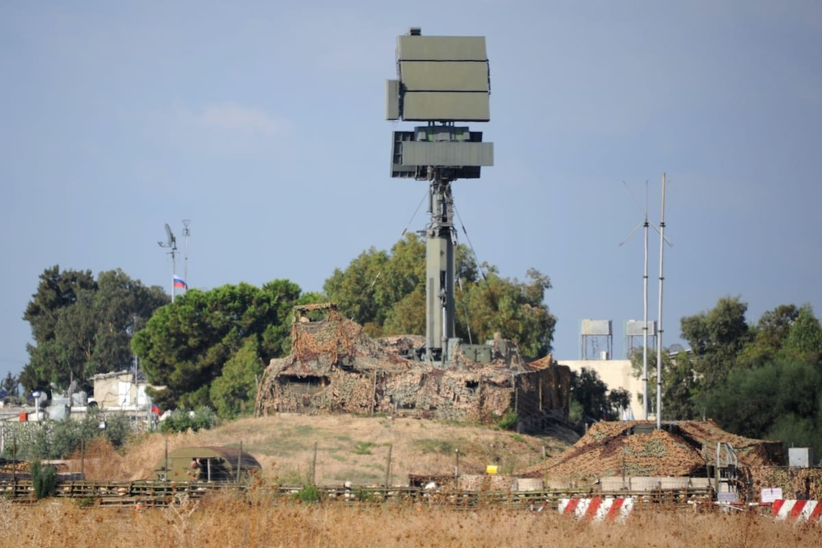 A Russian drone-detecting radar station is pictured at the Russian military base of Hmeimim, located south-east of the city of Latakia in Hmeimim, Latakia Governorate, Syria, on 26 September 2019. [MAXIME POPOV/AFP via Getty Images]