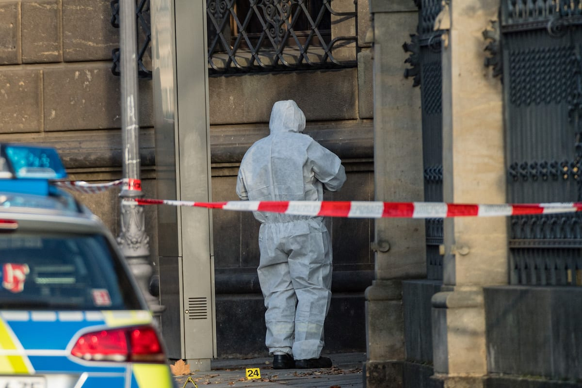 German criminal police on November 25, 2019 in Dresden, Germany. [Jens Schlueter/Getty Images]