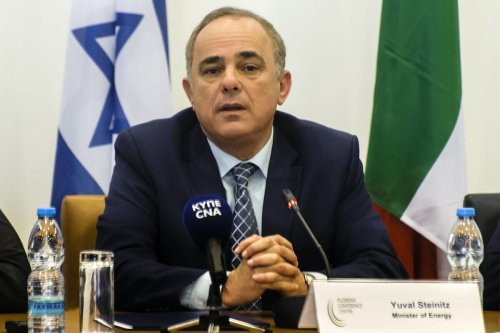 Israeli Energy Minister Yuval Steinitz on 5 December 2017, in the Cypriot capital Nicosia. [IAKOVOS HATZISTAVROU/AFP via Getty Images]
