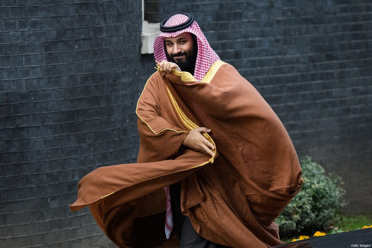 Saudi Crown Prince Mohammed bin Salman arrives for a meeting with British Prime Minister Theresa May (not pictured) in number 10 Downing Street on 7 March 2018 in London, England. [Leon Neal/Getty Images]