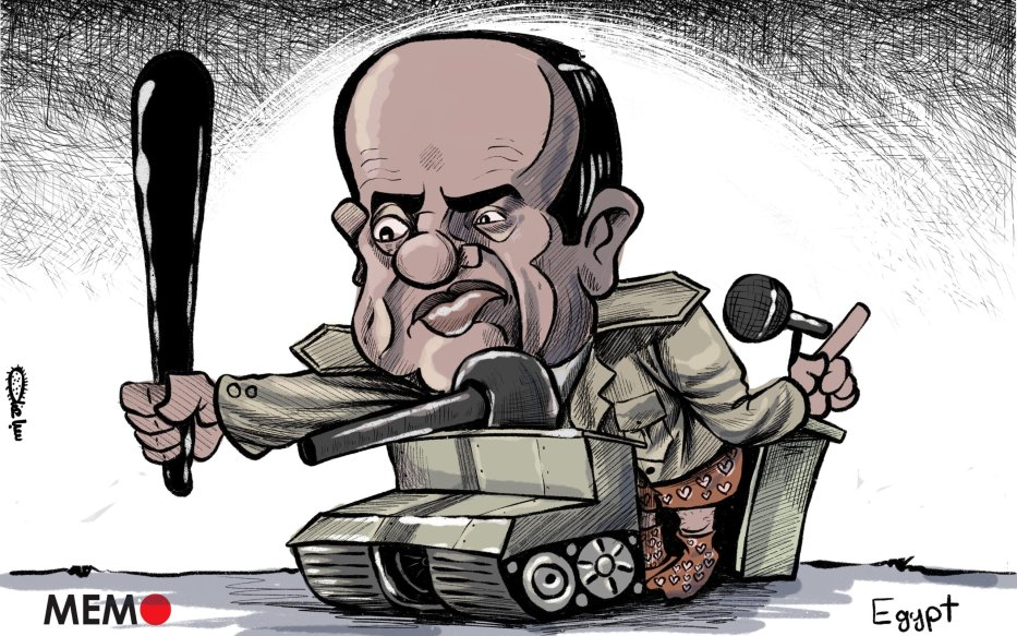 Nearly 2,000 arrested since September's protests in Egypt - Cartoon [Sabaaneh/MiddleEastMonitor]