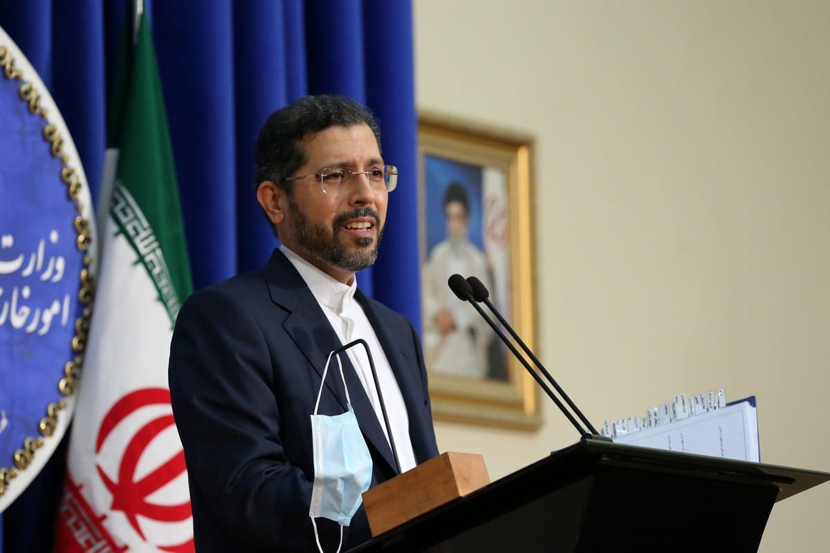 Iranian Foreign Ministry Spokesman Saeed Khatibzadeh in Tehran, Iran on October 5, 2020 [Fatemeh Bahrami/Anadolu Agency]