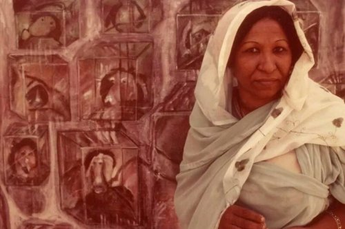 Sudanese artist, Kamala Ibrahim Ishaq [Sudan365C/Twitter]