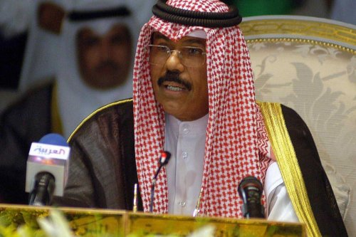 kuwait city, KUWAIT: (FILES) -- File photo dated 09 October 2004 shows Kuwaiti Emir Sheikh Nawaf Al Ahmad Al Sabah in Kuwait City, Kuwait on 9 October 2006 [YASSER AL-ZAYYAT/AFP/Getty Images]