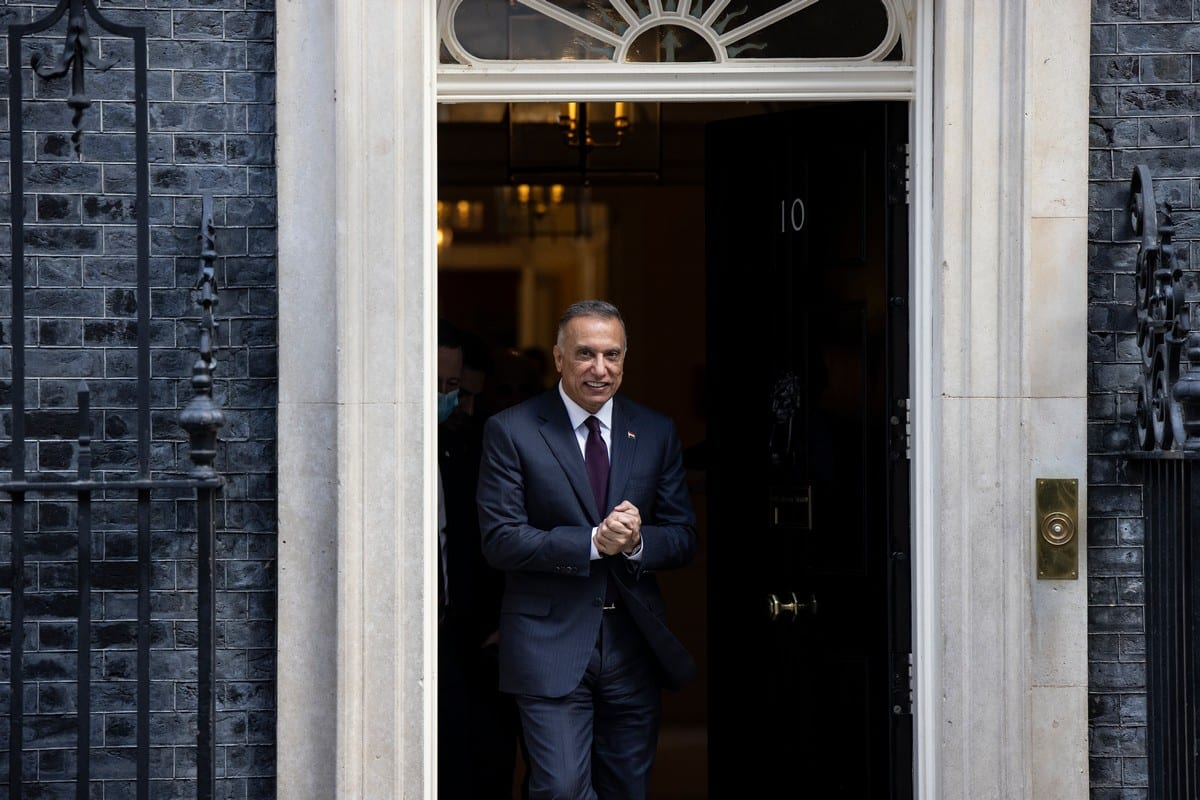 Iraqi Prime Minister Mustafa Al-Kadhimi in London, UK on 22 October 2020 [Dan Kitwood/Getty Images]