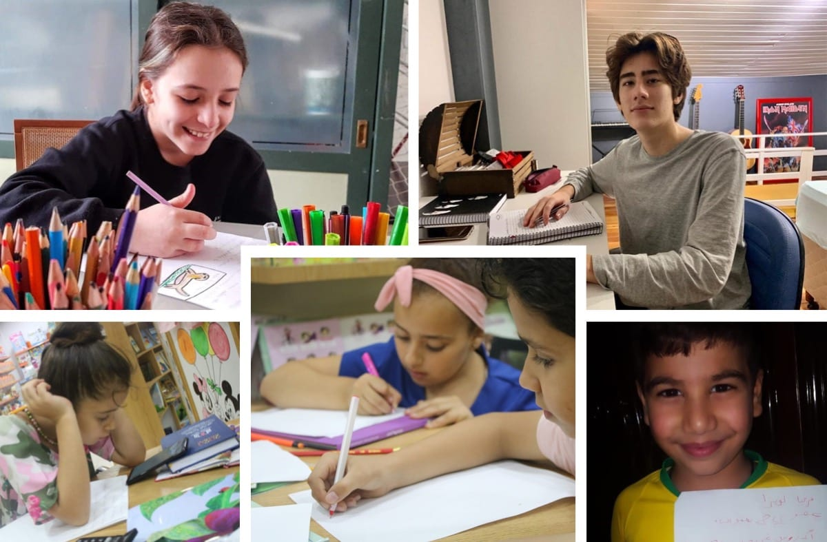 Palestinian and Brazilian children exchange letters to share their hopes and dreams [Angela Bastos]