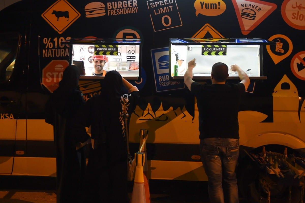 A fast-food truck in Riyadh, Saudi Arabia on 5 July 2018 [FAYEZ NURELDINE/AFP/Getty Images]