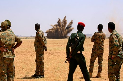 Thumbnail - Sudan blows up 300,000 illegal weapons