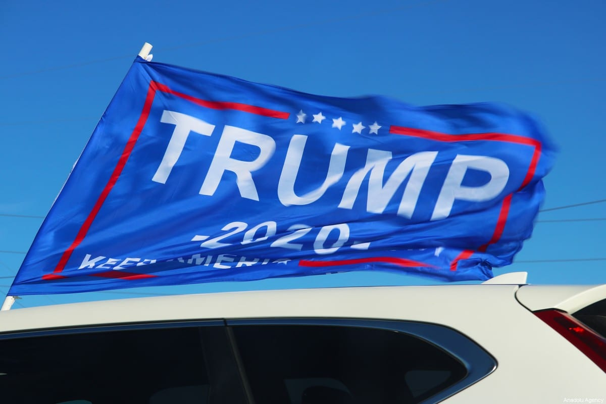 Supporters of US President Donald Trump gathered for a rally on 31 October 2020 in Ohio, US [Marc Wilson/Anadolu Agency]