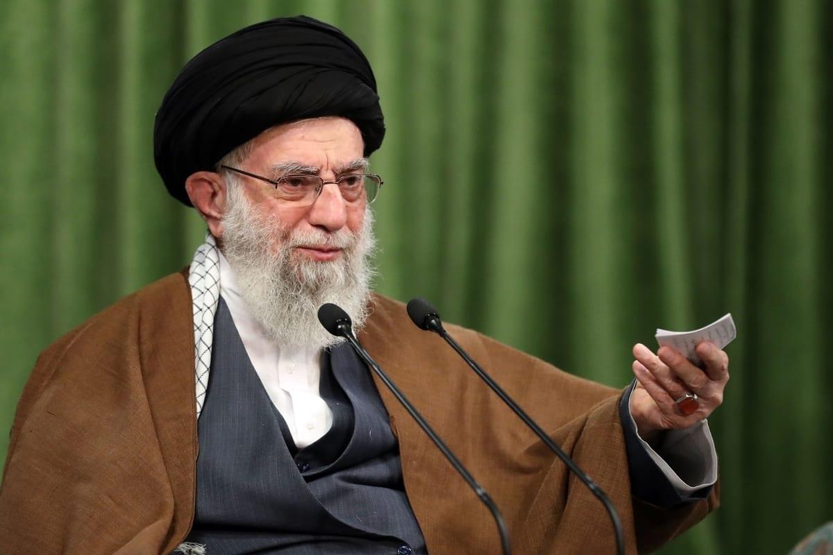 Iranian Supreme Leader Ali Khamenei in Tehran, Iran on 3 November 2020. [Iranian Leader Press Office - Anadolu Agency]