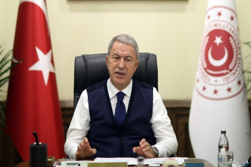 Turkish Defence Minister Hulusi Akar in Ankara, Turkey on 3 November 2020 [Arif Akdoğan/Anadolu Agency]