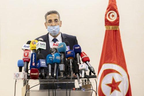 Tunisian Interior Minister Taoufik Charfeddine in Tunis, Tunisia on 6 November 2020 [Yassine Gaidi/Anadolu Agency]