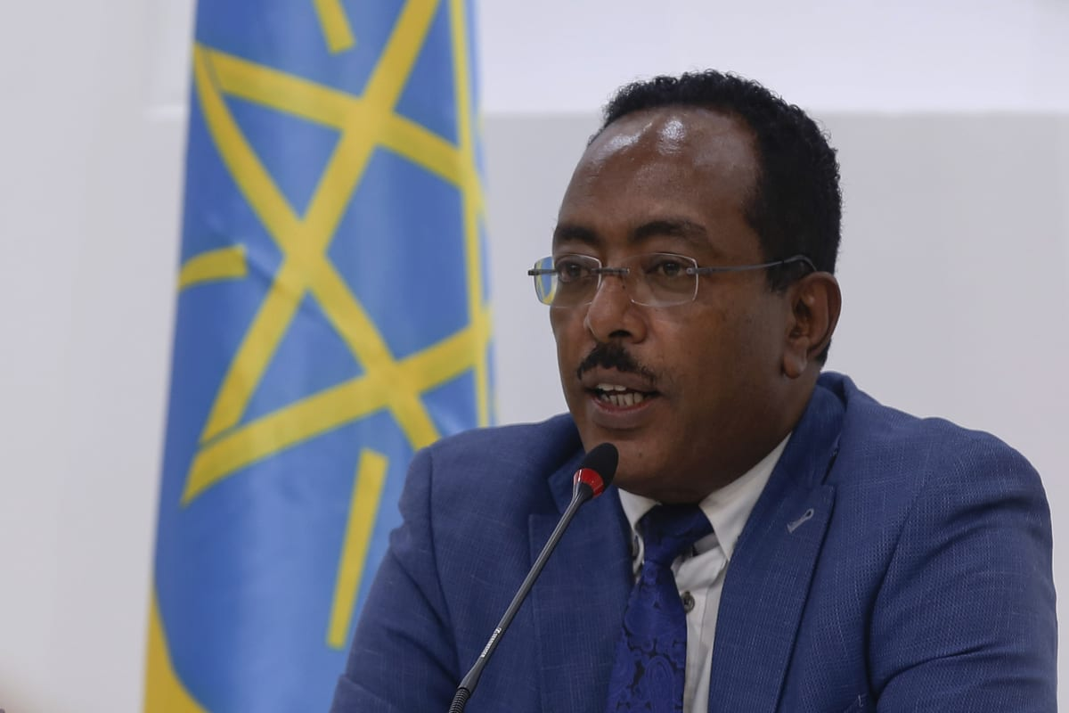Redwan Hussein, a spokesman for the prime minister's office, gives a news conference on the current events in Tigray region on 10 November 2020 in Addis Ababa, Ethiopia. [Minasse Wondimu Hailu - Anadolu Agency]