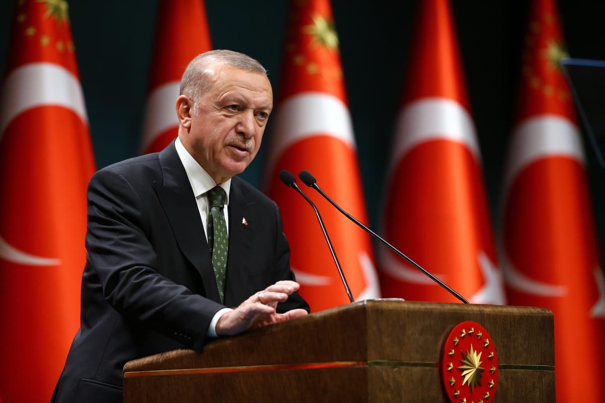 Turkish President Recep Tayyip Erdogan in Ankara, Turkey on 17 November 2020 [Halil Sağırkaya/Anadolu Agency]
