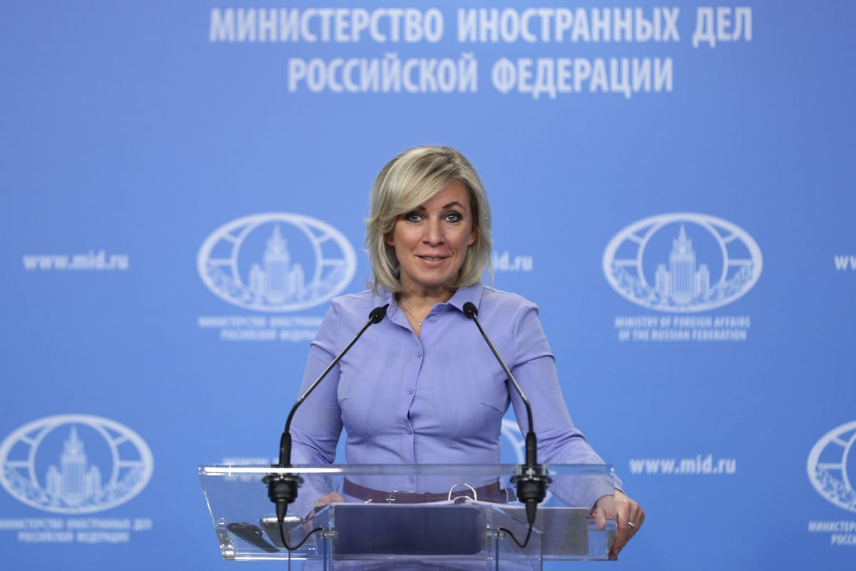 Spokeswoman for the Russian Ministry of Foreign Affairs, in Moscow, Russia on November 27, 2020. [ RUS Foreign Affairs Ministry - Anadolu Agency]