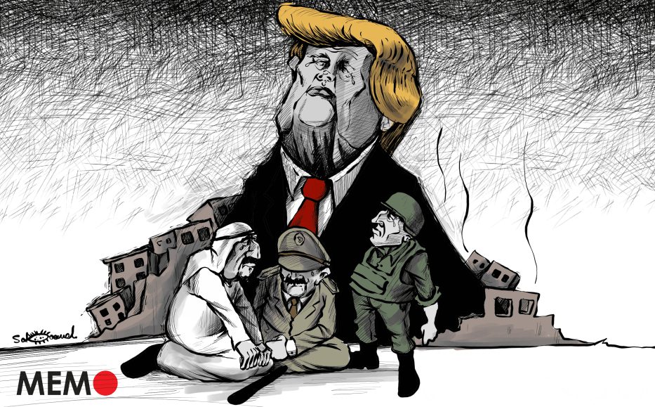 Trump's legacy in the Middle East - Cartoon [Sabaaneh/MiddleEastMonitor]