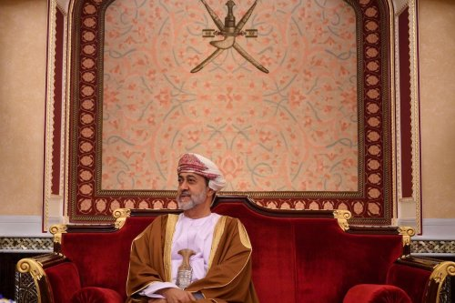 Oman's Sultan Haitham bin Tariq in Muscat on February 21, 2020 [ANDREW CABALLERO-REYNOLDS/AFP via Getty Images]