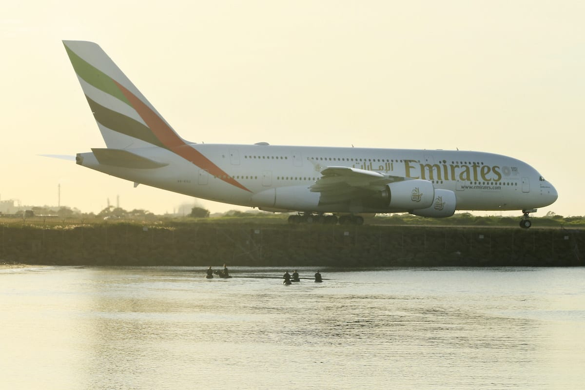 An Emirates A380 prepares for take off at Sydney Airport on 25 March 2020 in Sydney, Australia. [Mark Evans/Getty Images]