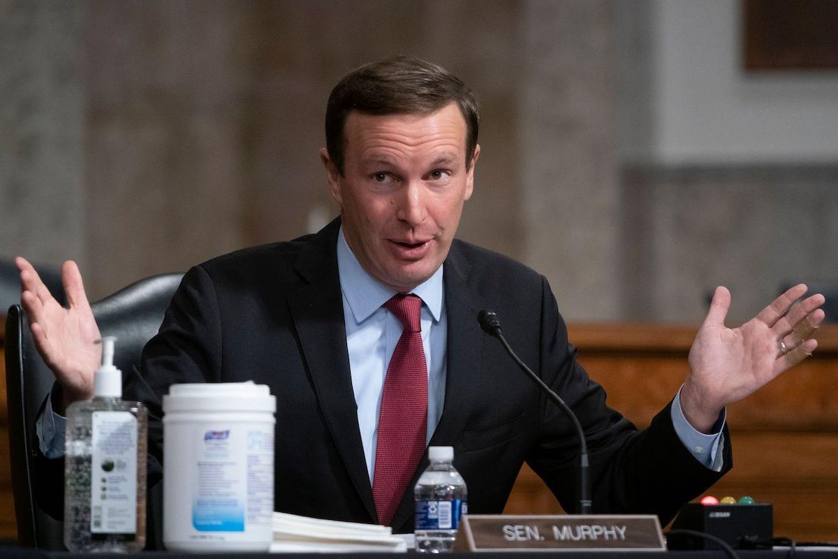Senator Chris Murphy in Washington, DC, on 23 September 2020. [ALEX EDELMAN/POOL/AFP via Getty Images]