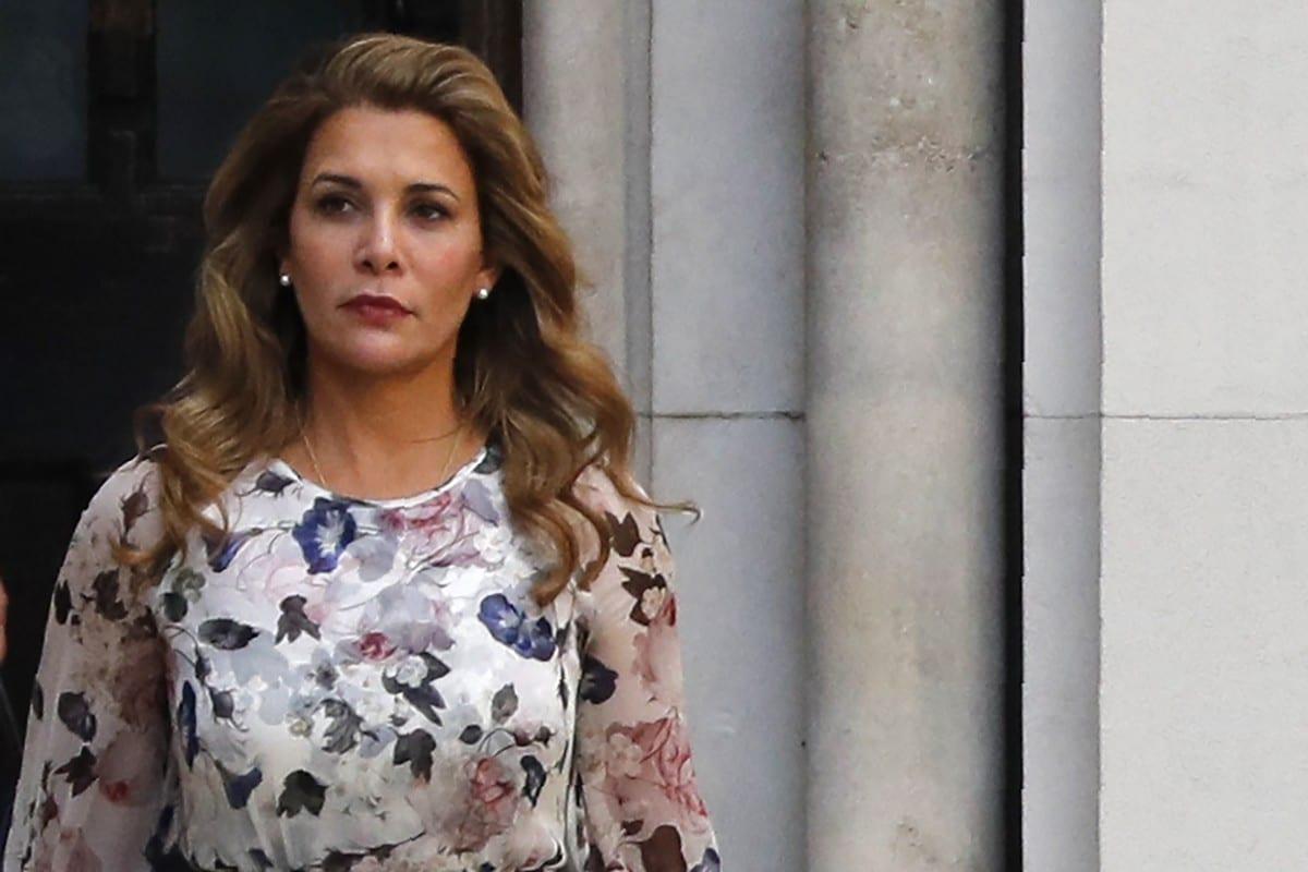 Princess Haya Bint Al-Hussein of Jordan leaves the Royal Courts of Justice in London, UK on 31 July 2019 [ADRIAN DENNIS/AFP/Getty Images]
