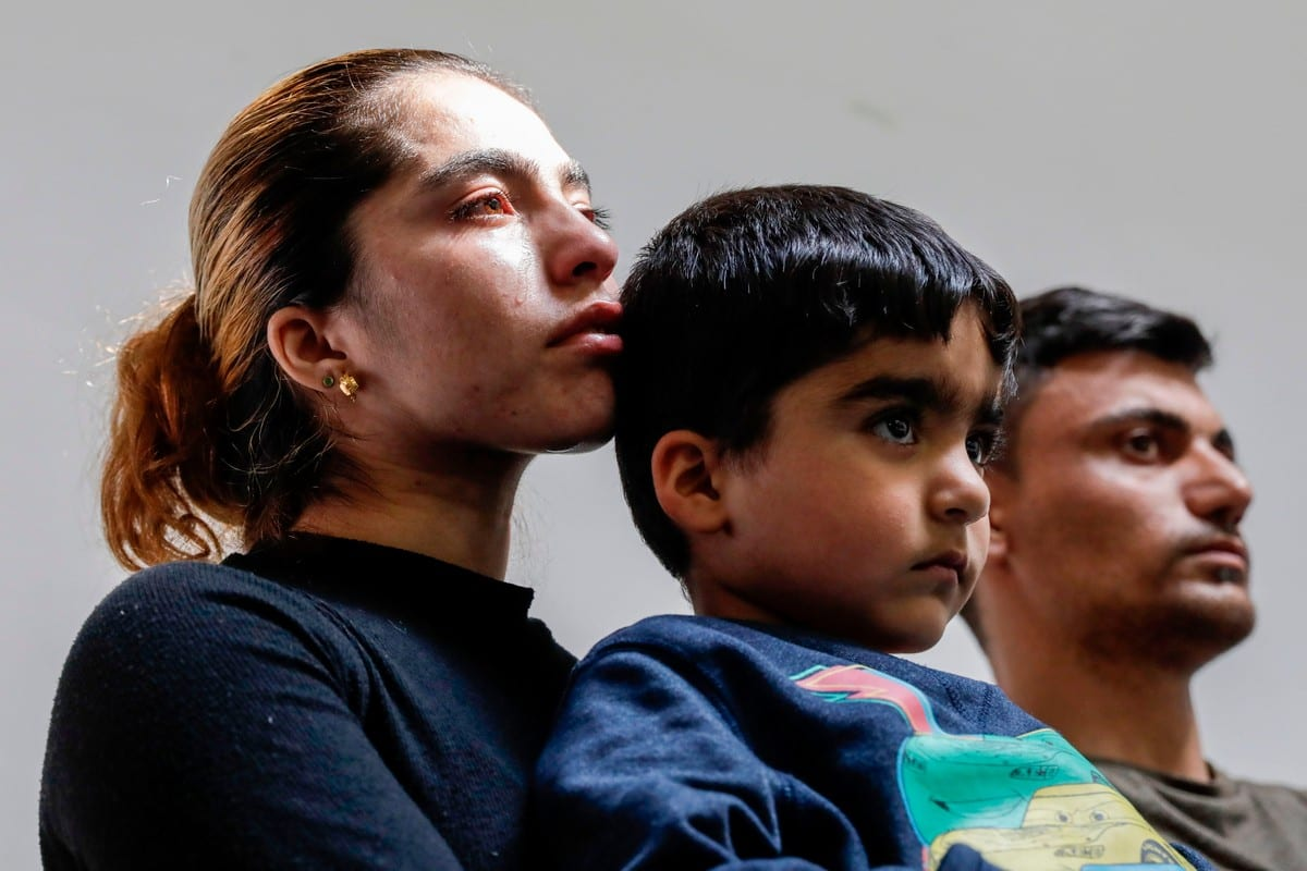 Parents of Mawda Shawri, a two-year-old Kurdish girl who died after police accidentally shot her in Belgium in May 2018 [THIERRY ROGE/AFP/Getty Images]