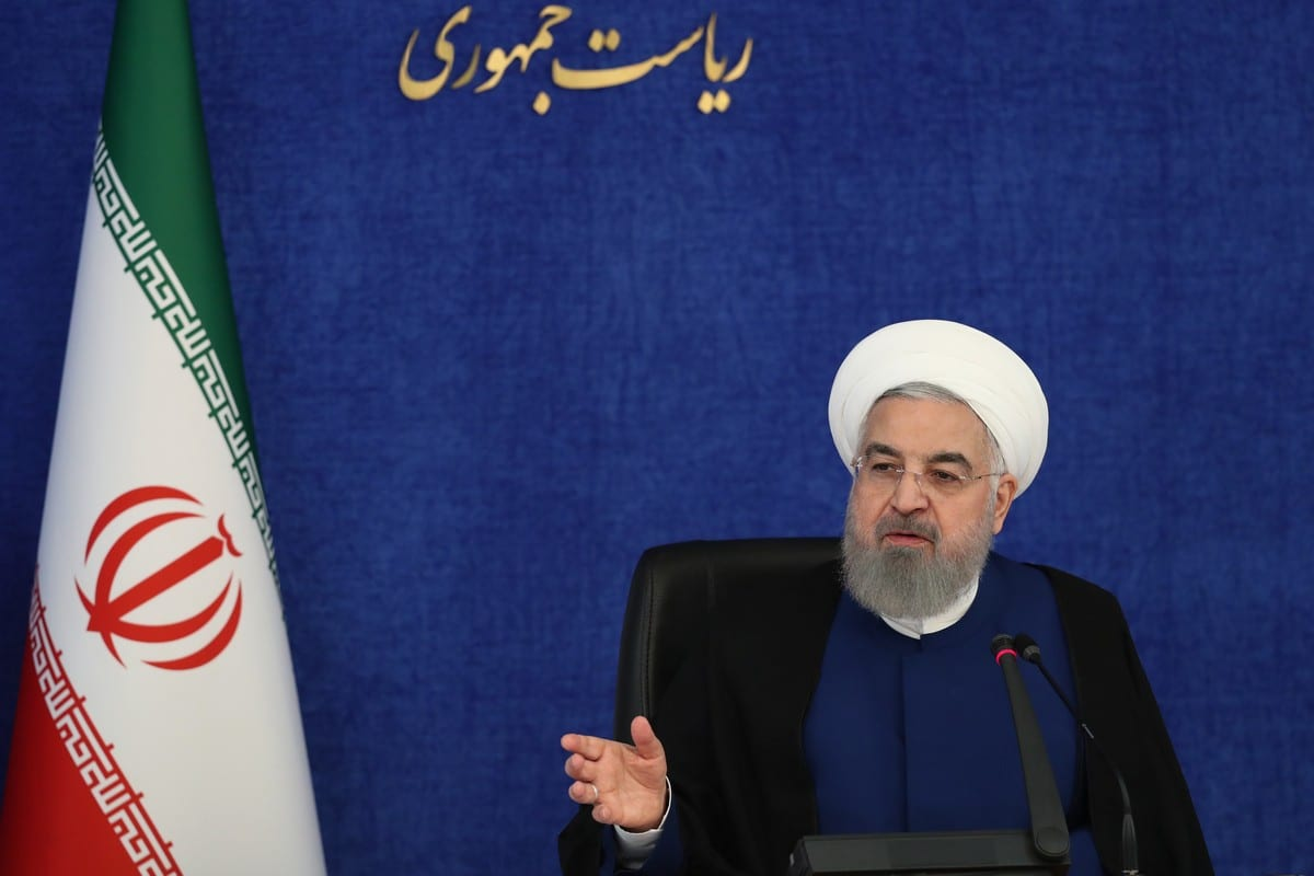 President of Iran, Hassan Rouhani in Tehran, Iran on 14 November 2020 [IRN Presidency/Anadolu Agency]