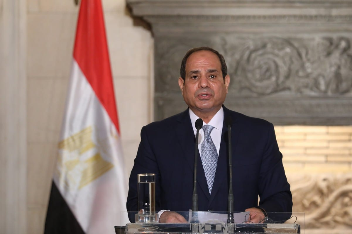 Egyptian President Abdel Fattah Al-Sisi in Greece on 11 November 2020 [COSTAS BALTAS/AFP/Getty Images]
