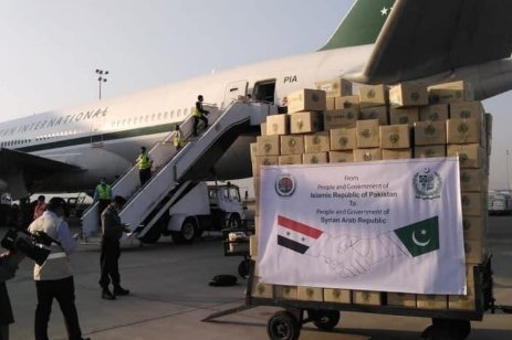 Syria receives medical aid from Pakistan, 2 November 2020 [ViewsDefence/Twitter]