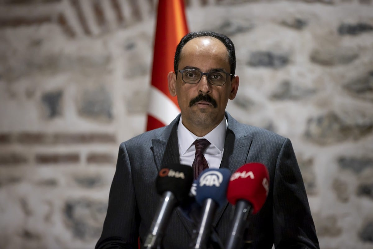 Turkish Presidential Spokesman Ibrahim Kalin at Dolmabahce Presidential Working Office in Istanbul, Turkey on 29 November 2020. [Utku Uçrak - Anadolu Agency]