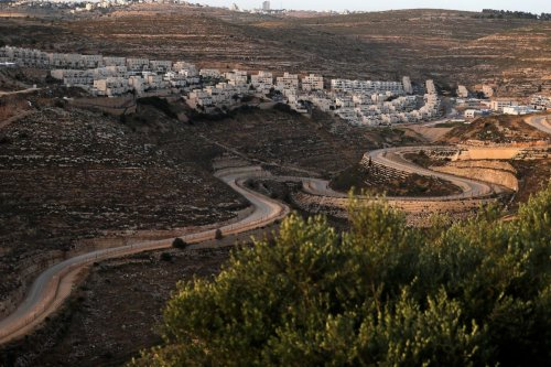 Israeli settlements in the West Bank on 10 June 2020 [AHMAD GHARABLI/AFP/Getty Images]