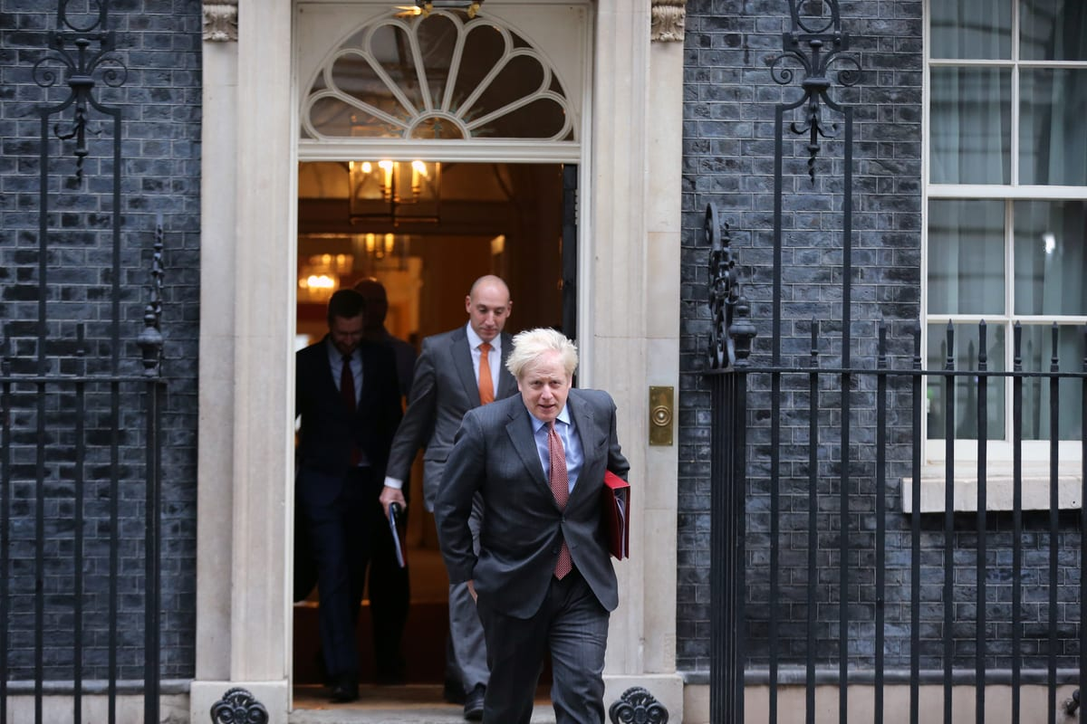UK Prime Minister, Boris Johnson leaves 10 Downing Street to chair the cabinet meeting in London, England on December 8, 2020 [Tayfun Salci/Anadolu Agency]