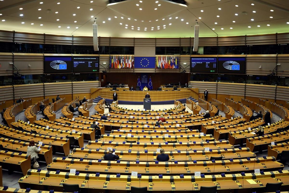 European Parliament in session in Brussels, Belgium on 15 December 2020 [Dursun Aydemir/Anadolu Agency]