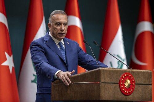 Iraqi Prime Minister Mustafa Al-Kadhimi in Ankara, Turkey on December 17, 2020. [Ali Balıkçı - Anadolu Agency]