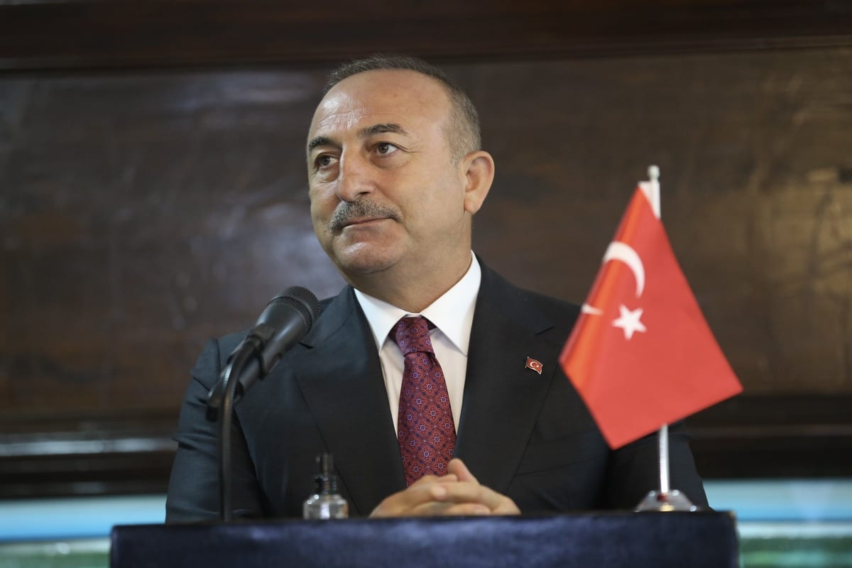 Minister of Foreign Affairs of Turkey, Mevlut Cavusoglu in Dhaka, Bangladesh, on 23 December 2020. [Fatih Aktaş - Anadolu Agency]