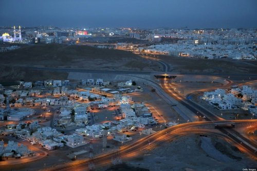 An empty neighbourhood is pictured in the Omani capital Muscat amid a lockdown to prevent the spread of the coronavirus COVID-19 on July 27, 2020. [MOHAMMED MAHJOUB/AFP via Getty Images]
