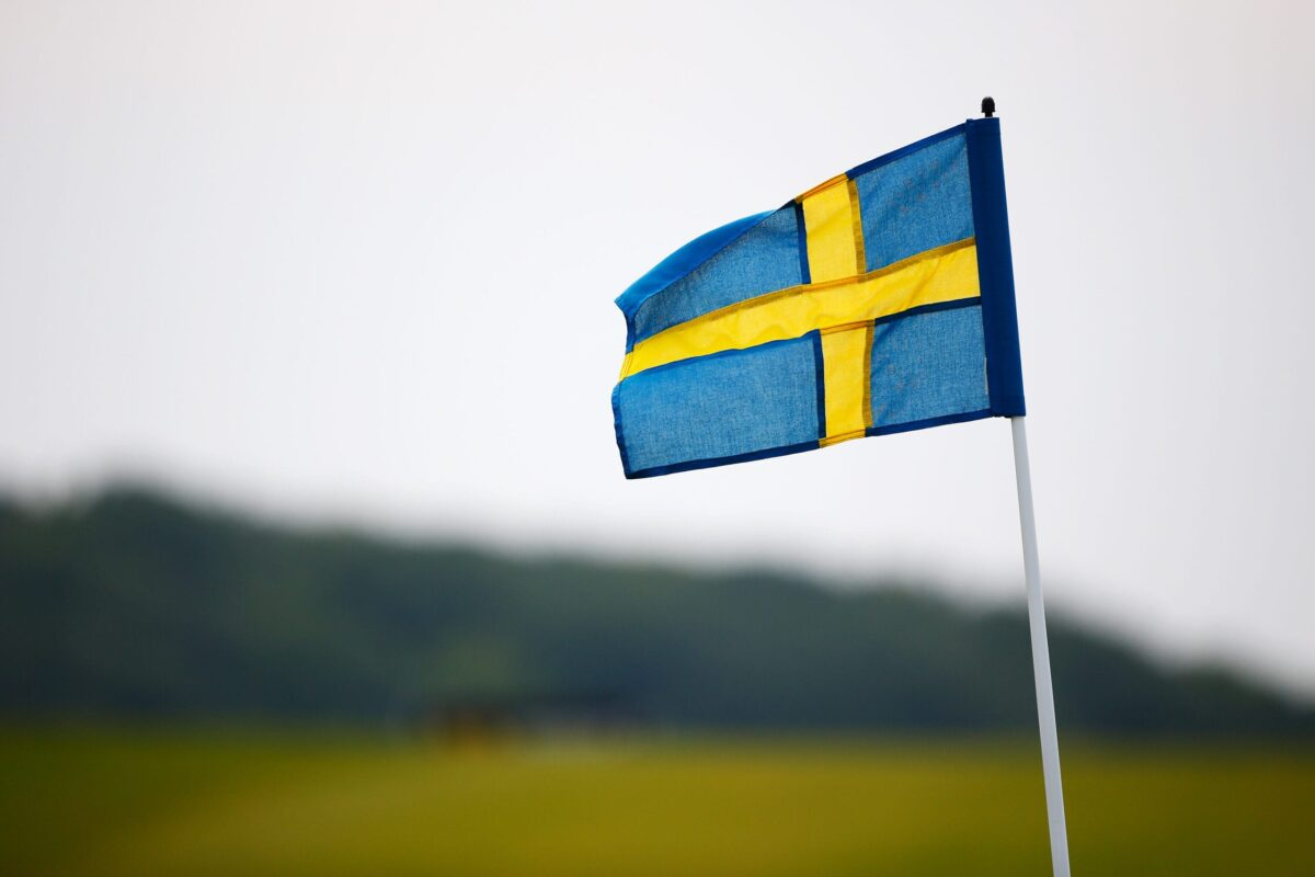 MALMO, SWEDEN - JUNE 06: The pin flags are replaced with Swedish flags to mark Sweden's National Day on day three of the Nordea Masters at the PGA Sweden National on June 6, 2015 in Malmo, Sweden. (Photo by Harry Engels/Getty Images)
