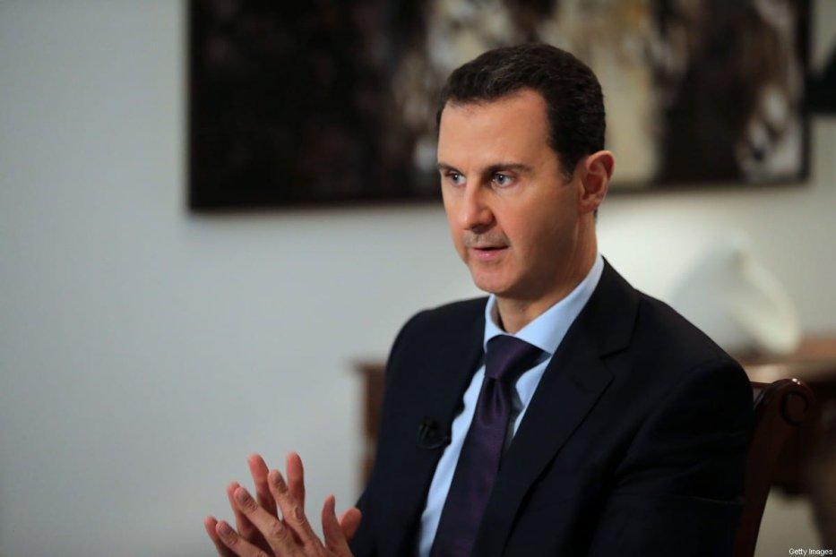 Syrian President Bashar Al-Assad in Damascus, Syria on 11 February 2016 [JOSEPH EID/AFP/Getty Images]