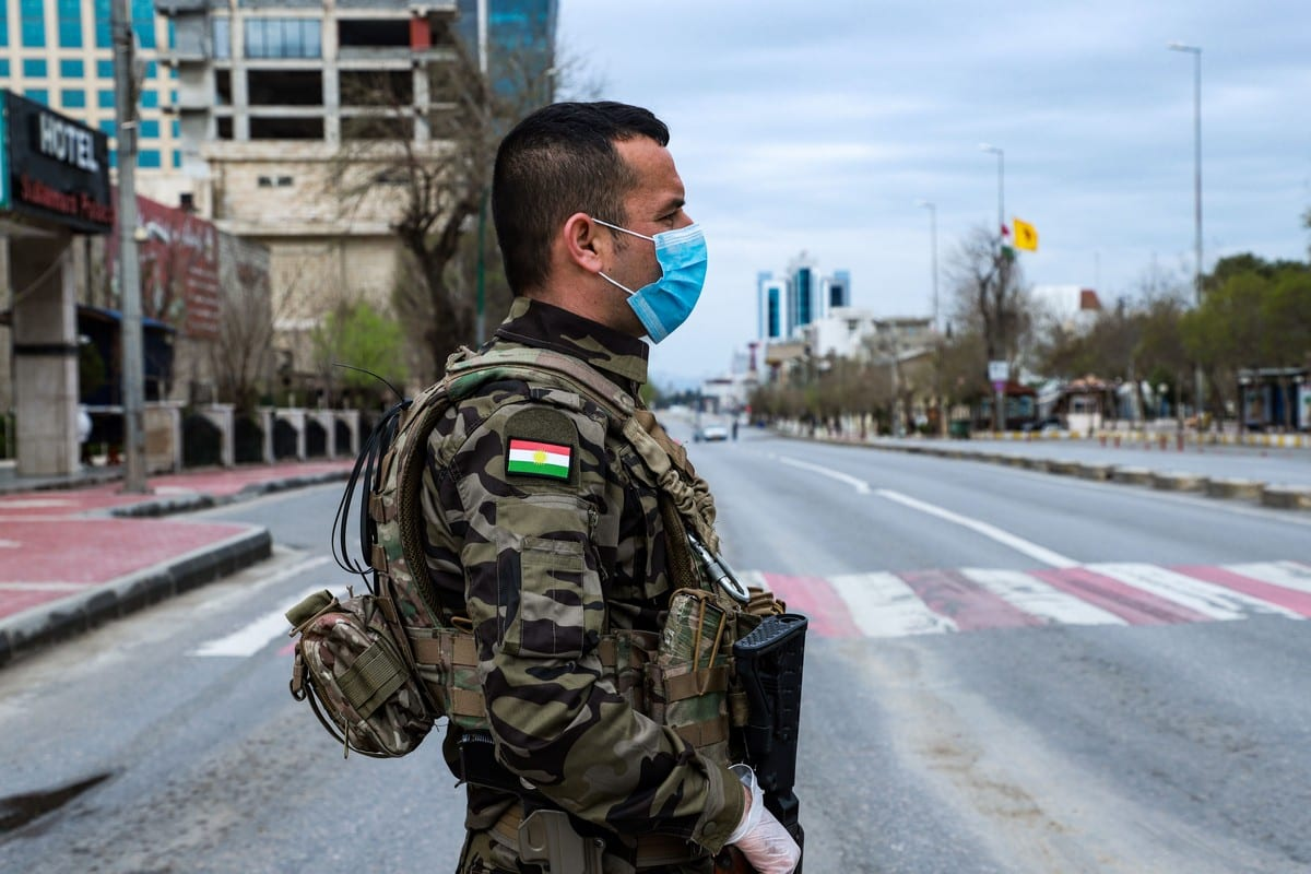 A member of the Iraqi Kurdish Asayish security force in Iraq on 14 on March 2020 [SHWAN MOHAMMED/AFP/Getty Images]