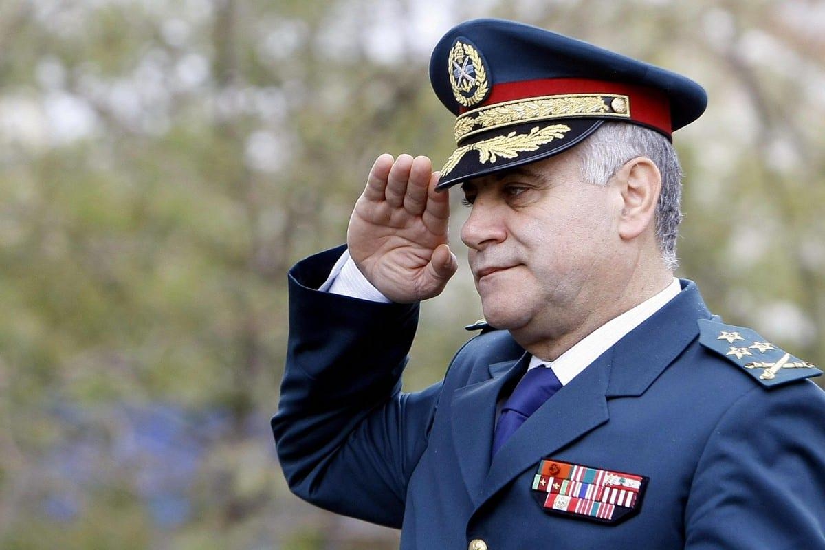 Former Lebanese army chief, General Jean Kahwaji in Beirut, Lebanon on 22 November 2008 [ANWAR AMRO/AFP/Getty Images]
