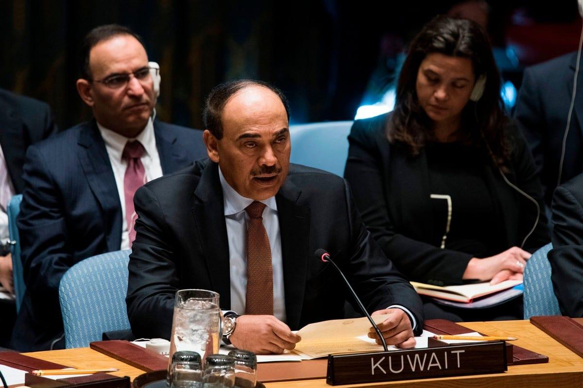 Kuwait's new prime minister Sheikh Sabah Khaled Al Hamad A Sabah at the United Nations headquarters on 18 January 2018 [JEWEL SAMAD/AFP/Getty Images]
