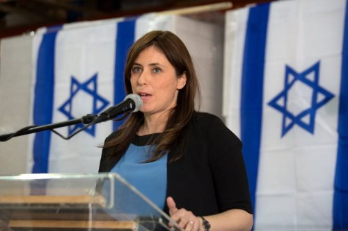 Israeli Ambassador to the UK Tzipi Hotovely in the West Bank on 3 November 2015 [MENAHEM KAHANA/AFP/Getty Images]