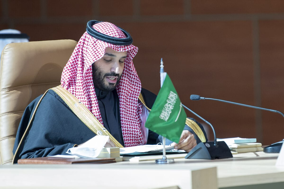Crown Prince of Saudi Arabia Mohammed bin Salman in Saudi Arabia on 5 January 2021 [Royal Council of Saudi Arabia/Anadolu Agency]